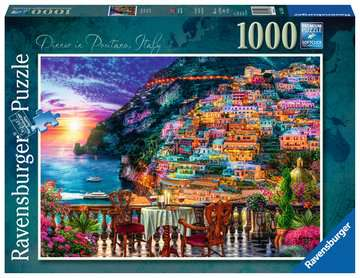 Dinner in Positano, Italy, 1000pc Puzzles;Adult Puzzles - image 1 - Ravensburger