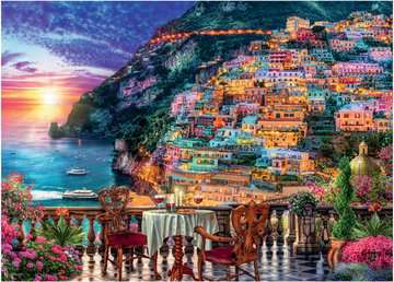 Dinner in Positano, Italy, 1000pc Puzzles;Adult Puzzles - image 2 - Ravensburger