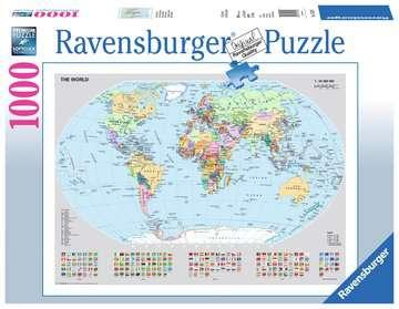 Puzzle 1000 p - Carte du monde politique Puzzle;Puzzle adulte - Image 1 - Ravensburger