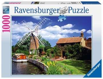 Malerische Windmühle Puzzle;Erwachsenenpuzzle - Bild 1 - Ravensburger