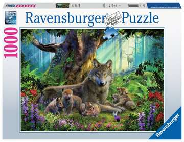Wolves in the Forest, 1000pc Puslespil;Puslespil for voksne - Billede 1 - Ravensburger
