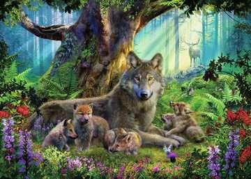 Wolves in the Forest, 1000pc Puslespil;Puslespil for voksne - Billede 2 - Ravensburger