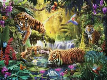 Tranquil Tigers Jigsaw Puzzles;Adult Puzzles - image 2 - Ravensburger