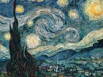 Van Gogh: Notte stellata Puzzle;Puzzle da Adulti - immagine 2 - Ravensburger