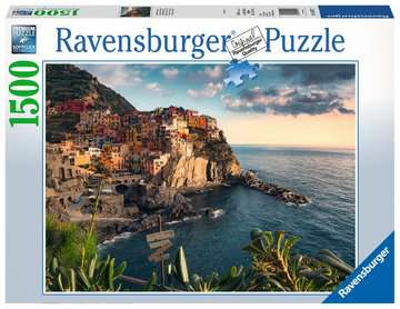View of Cinque Terre, Italy, 1500pc Puzzles;Adult Puzzles - image 1 - Ravensburger