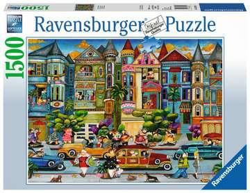 Malované domy 1500 dílků 2D Puzzle;Puzzle pro dospělé - obrázek 1 - Ravensburger
