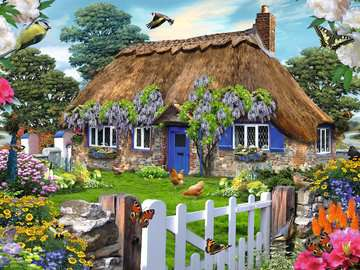Cottage in Engeland / Cottage anglais Puzzle;Puzzles adultes - Image 2 - Ravensburger
