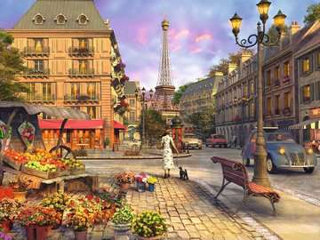 Vintage Paris Puzzle;Puzzle da Adulti - immagine 2 - Ravensburger