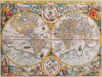 Puzzle 1500 p - Mappemonde 1594 Puzzle;Puzzle adulte - Image 2 - Ravensburger