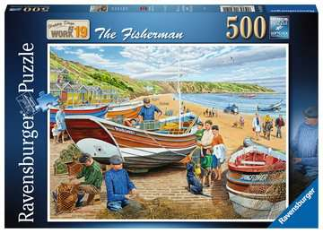 Happy Days at Work, The Fisherman, 500pc Puzzles;Adult Puzzles - image 1 - Ravensburger