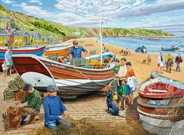 Happy Days at Work, The Fisherman, 500pc Puzzles;Adult Puzzles - image 2 - Ravensburger