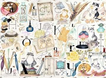 Crazy Cats Alphabet, 500pc Puzzles;Adult Puzzles - image 2 - Ravensburger