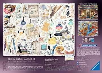 Crazy Cats Alphabet, 500pc Puzzles;Adult Puzzles - image 3 - Ravensburger