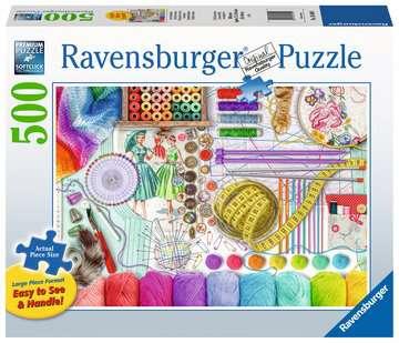 Needlework Station Jigsaw Puzzles;Adult Puzzles - image 1 - Ravensburger