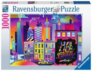 Live Life Colorfully, NYC Jigsaw Puzzles;Adult Puzzles - image 1 - Ravensburger