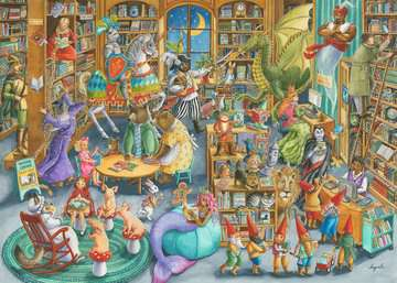 Midnight at the Library Jigsaw Puzzles;Adult Puzzles - image 2 - Ravensburger
