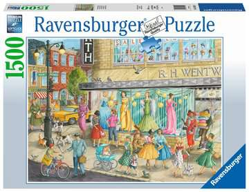 Sidewalk Fashion Jigsaw Puzzles;Adult Puzzles - image 1 - Ravensburger