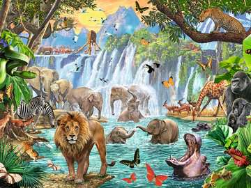 Waterfall Safari Jigsaw Puzzles;Adult Puzzles - image 2 - Ravensburger