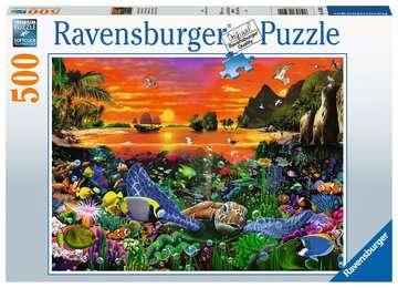 16590 Erwachsenenpuzzle Schildkröte im Riff von Ravensburger 1