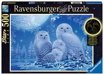 16595 Erwachsenenpuzzle Eulen im Mondschein von Ravensburger 1