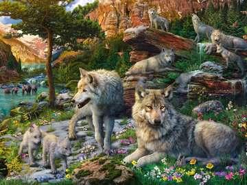 AT Frühlingswölfe         1500p Puslespil;Puslespil for voksne - Billede 2 - Ravensburger
