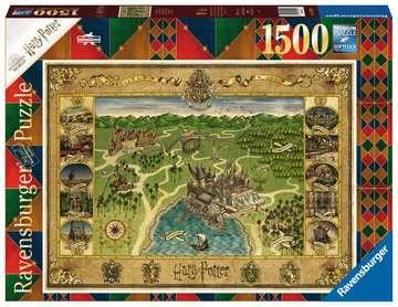 16599 Erwachsenenpuzzle Hogwarts Karte von Ravensburger 1