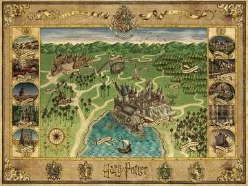 16599 Erwachsenenpuzzle Hogwarts Karte von Ravensburger 2