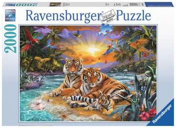 Tiger Family, 2000pc Puzzles;Adult Puzzles - image 1 - Ravensburger