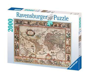 Map of the World 1650, 2000pc Puzzles;Adult Puzzles - image 1 - Ravensburger