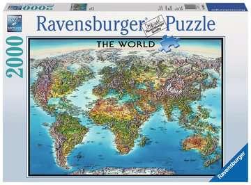 World Map Puzzle;Puzzle da Adulti - immagine 1 - Ravensburger