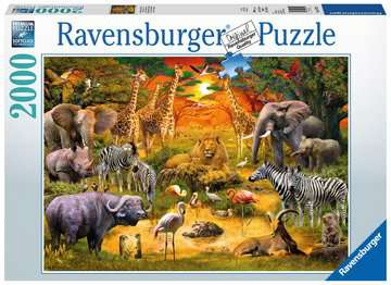 Gathering at the Waterhole Jigsaw Puzzles;Adult Puzzles - image 1 - Ravensburger