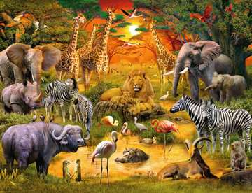 Gathering at the Waterhole Jigsaw Puzzles;Adult Puzzles - image 2 - Ravensburger