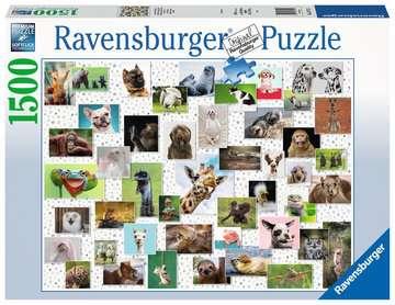 Funny Animals Collage     1500p Puslespil;Puslespil for voksne - Billede 1 - Ravensburger