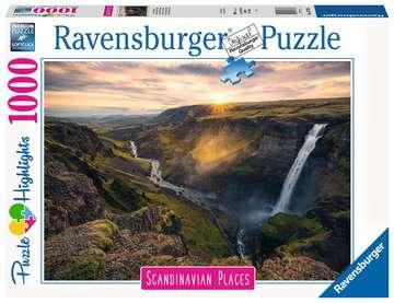 Haifoss auf Island        1000p Puslespil;Puslespil for voksne - Billede 1 - Ravensburger