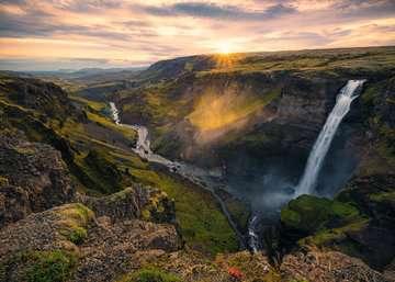 Haifoss auf Island        1000p Puslespil;Puslespil for voksne - Billede 2 - Ravensburger