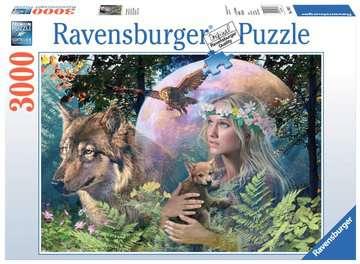 Wolven in de maneschijn Puzzels;Puzzels voor volwassenen - image 1 - Ravensburger
