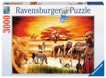 Puzzle 3000 p - La fierté du Massaï Puzzle;Puzzle adulte - Image 1 - Ravensburger