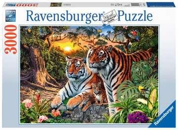 UKRYTY TYGRYS 3000EL. Puzzle;Puzzle dla dorosłych - Zdjęcie 1 - Ravensburger