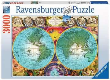 Antique Map Puslespil;Puslespil for voksne - Billede 1 - Ravensburger