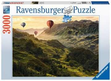 Puzzle 3000 p - Terrasses de riz en Asie Puzzle;Puzzle adulte - Image 1 - Ravensburger