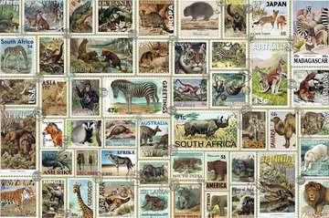 Animal Stamps, 3000pc Puslespil;Puslespil for voksne - Billede 2 - Ravensburger