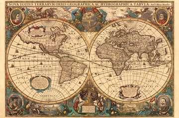 Antieke wereldkaart Puzzels;Puzzels voor volwassenen - image 2 - Ravensburger