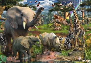At the Waterhole Jigsaw Puzzles;Adult Puzzles - image 2 - Ravensburger