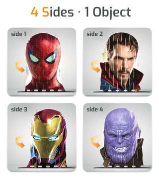 4S Vision Avengers Infinity War Spiderman Malen und Basteln;Bastelsets - Bild 3 - Ravensburger