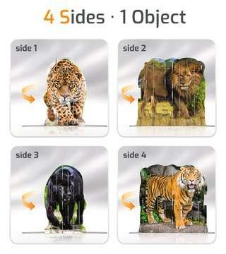 4S Vision Wild Cats Malen und Basteln;Bastelsets - Bild 3 - Ravensburger