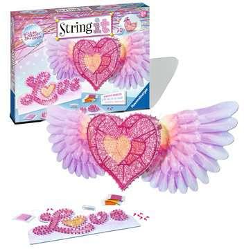 String it Maxi: 3D-Heart Malen und Basteln;Bastelsets - Bild 2 - Ravensburger