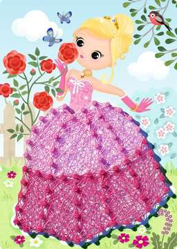 18066 Bastelsets String it Mini: Pink Princess von Ravensburger 2