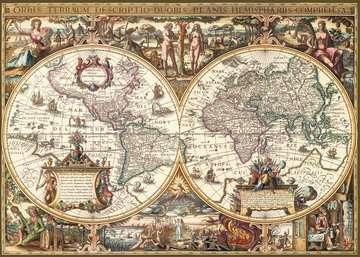 19004 Erwachsenenpuzzle Antike Weltkarte von Ravensburger 2