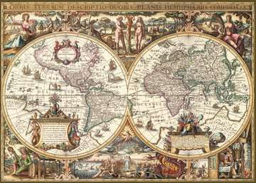 Antike Weltkarte Puzzle;Erwachsenenpuzzle - Bild 2 - Ravensburger