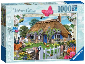 Country Cottage Collection, Wisteria Cottage, 1000pc Puzzles;Adult Puzzles - image 1 - Ravensburger